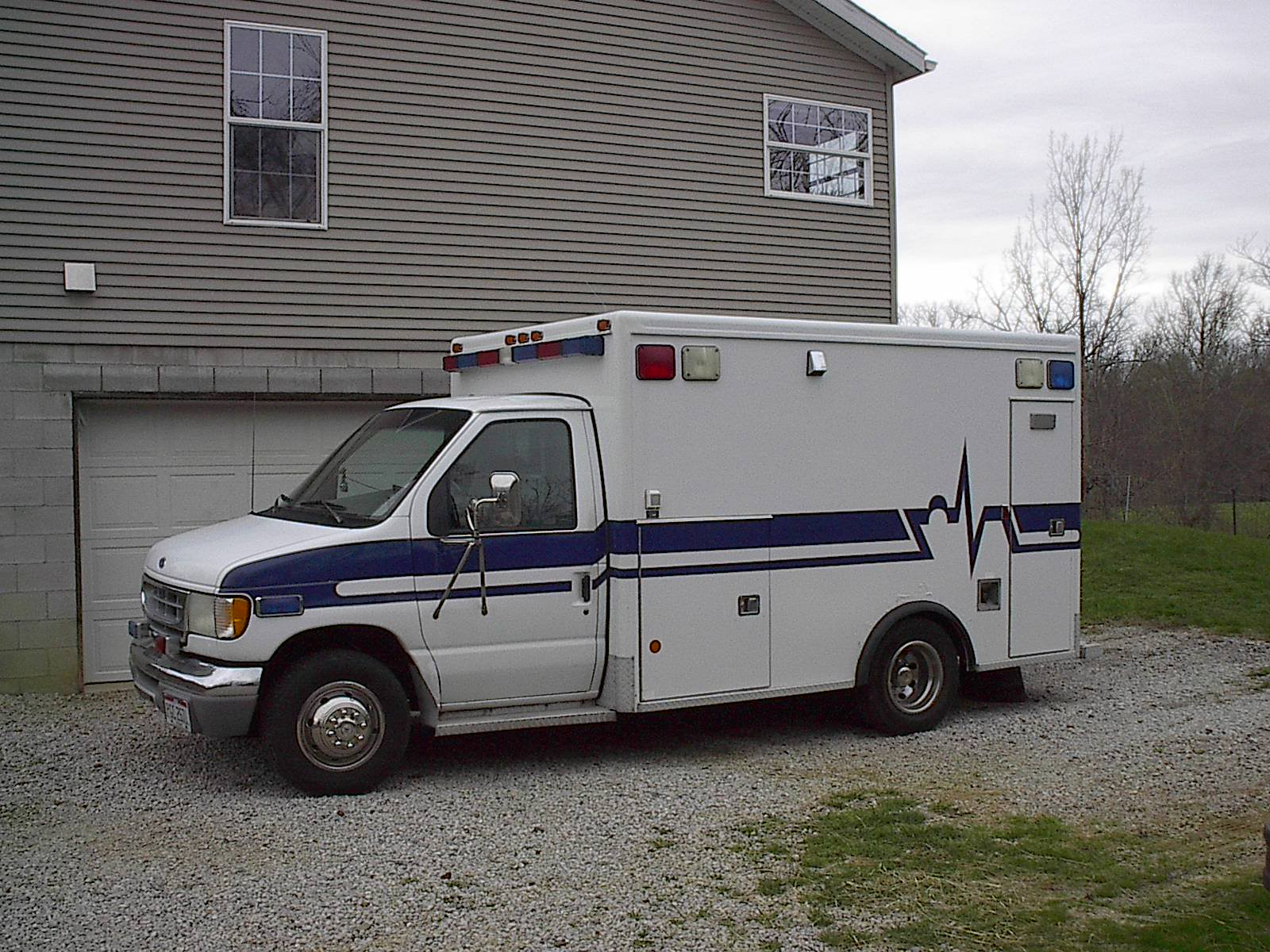 Picture of ambulance, the company truck. 24/7 Electrical Service.